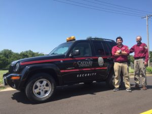 Security Department welcomes a newly donated vehicle