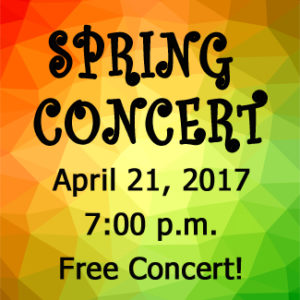 "Calvary University Presents the Annual Spring Concert – ""It's a Grand Night for Music!"""